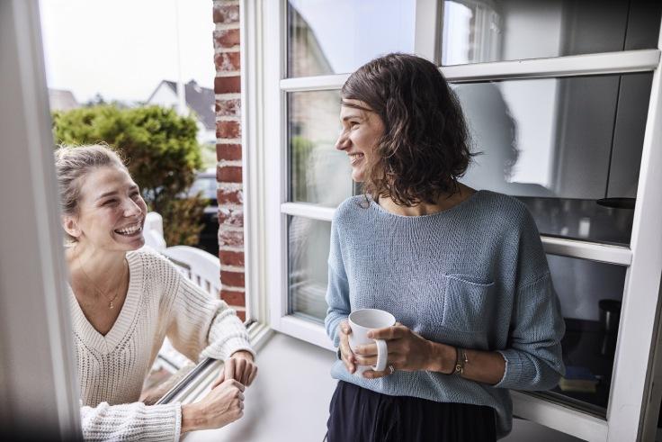 Koffie drinken met de buurvrouw