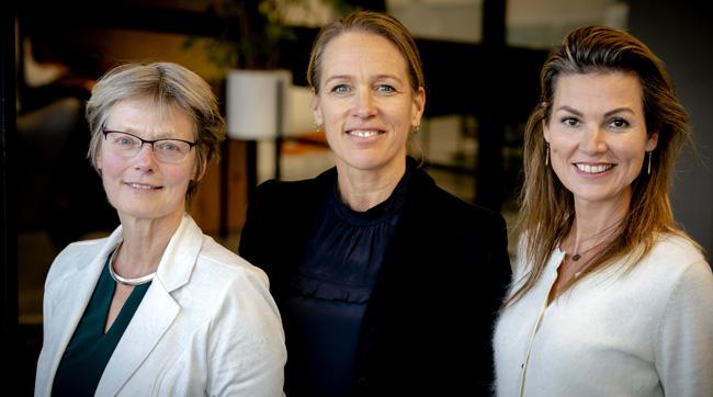 Heleen Wortelboer (Senior Scientist Healthy Living TNO), Nathalie de Jager (Manager Gezond Ondernemen Zilveren Kruis) en Hebe Boonzaaijer (Lead Health & Wellbeing Deloitte)