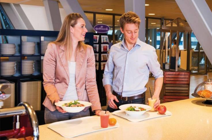 Gezonde maaltijden in het bedrijfsrestaurant