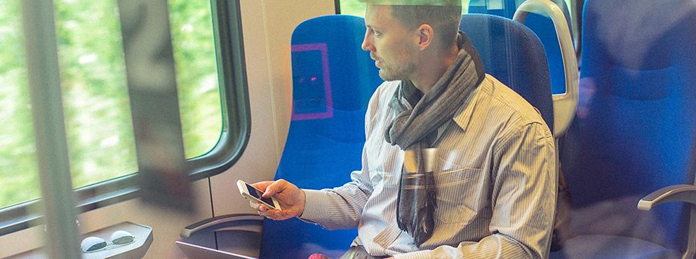 man in de trein